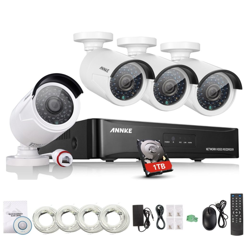 avis sur le kit de vid o surveillance annke 4ch 960p. Black Bedroom Furniture Sets. Home Design Ideas